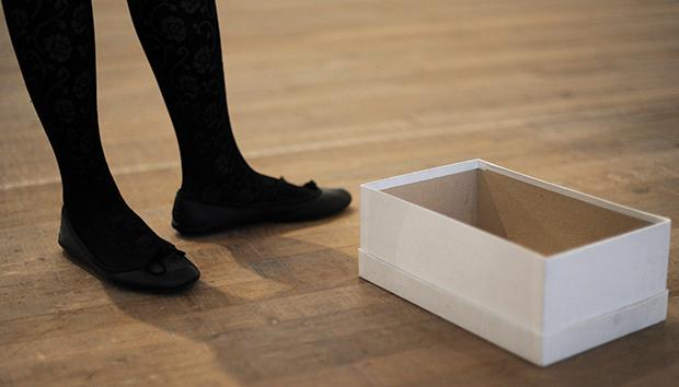 Caja de zapatos vacía, por Gabriel Orozco, 1993