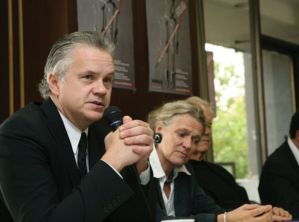 Robbins, en el Día Mundial contra la Pena de Muerte, en 2007
