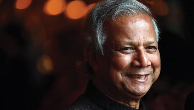 Yunus ha despertado millones de conciencias en el mundo. Foto: AFP