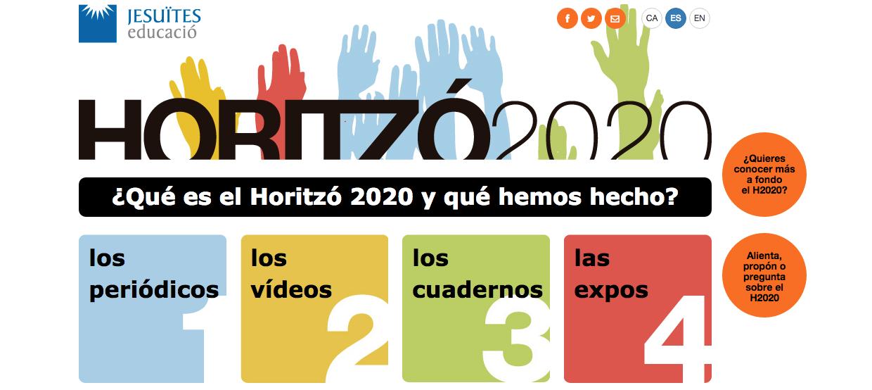 Portal en internet del proyecto Horitzó 2020