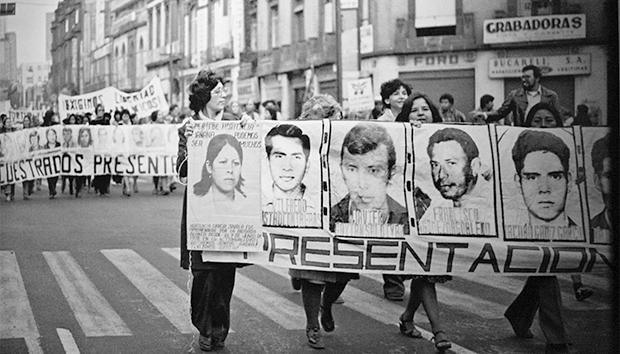 Manifestación del Comité Eureka en la capital. Imagen expuesta en el Museo Casa de la Memoria Indómita.
