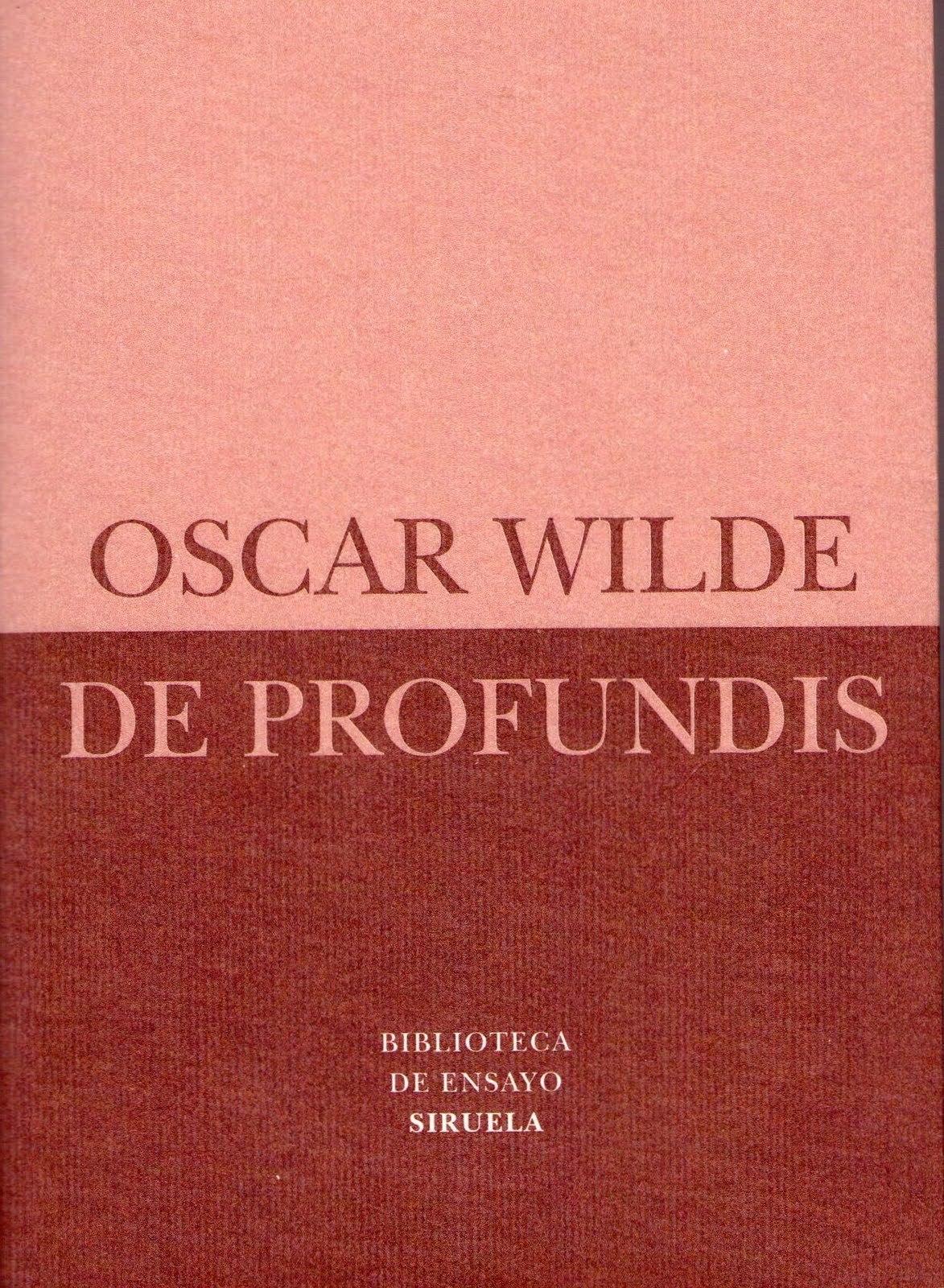 Portada del libro «De profundis», de Oscar Wilde