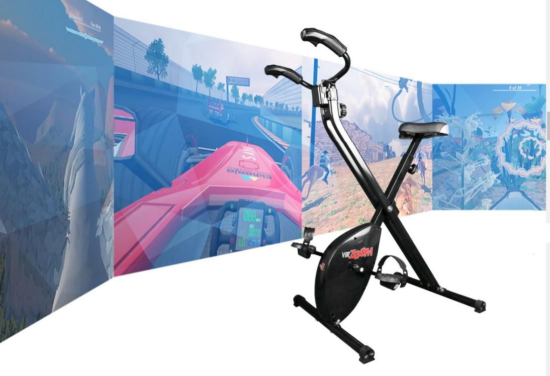 VirZoom es una bicicleta fija que echa mano de la realidad virutal.