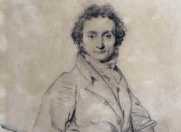 Dibujo del violinista Niccolò Paganini.