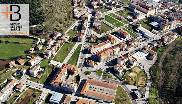 Imagen aérea de Saint Miquel-Les Tries, en España.