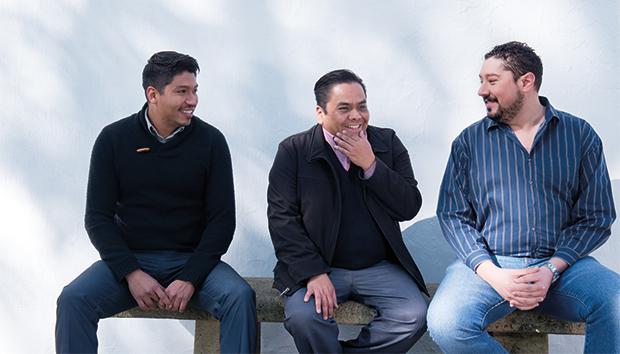 De izq. a der: Rafael Valle, Héctor Pérez y Luis Karg. Foto: Luis Ponciano