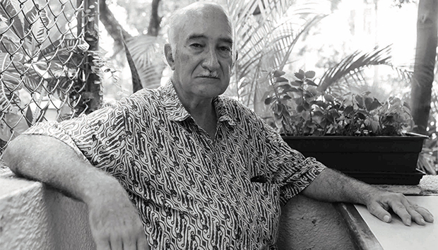 Raúl Aceves en un retrato de Abraham Aréchiga/UdeG