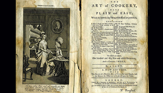 Imagen del libro «The Art of Cookery Made Plain and Easy», de Hannah Glasse.