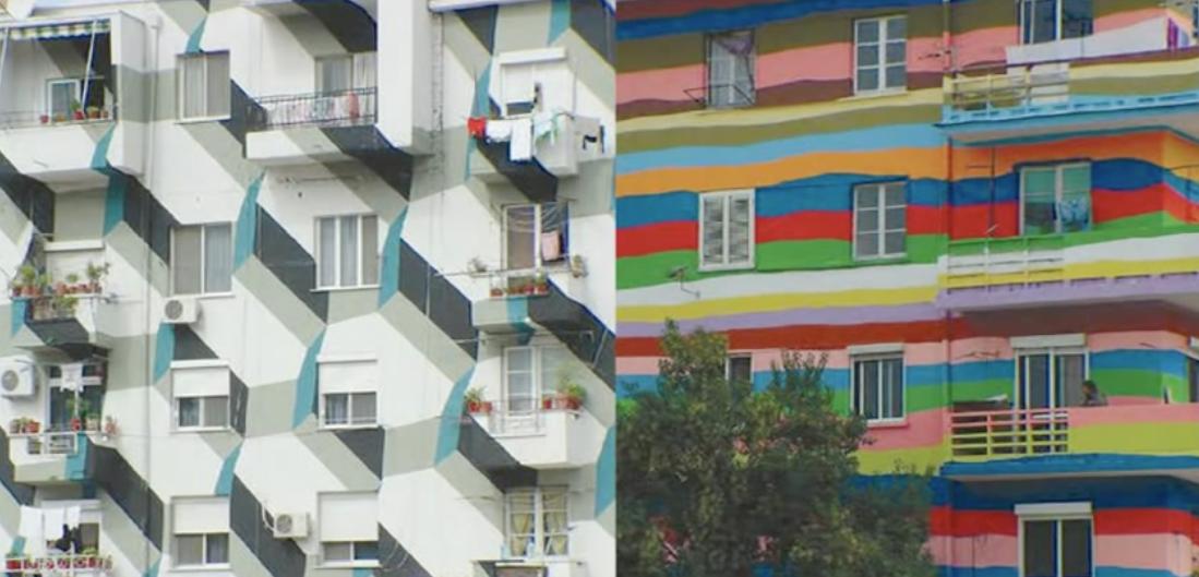 Imagen de un barrio recuperado en Tirana, Albania.