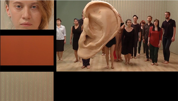 Fotogramas del video «The Excluded in a Moment of Danger», de 2014