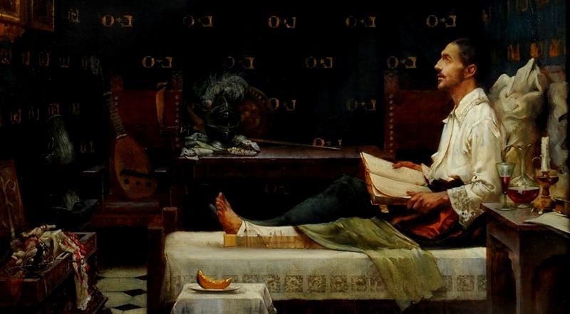 Representación de Ignacio de Loyola durante su convalecencia